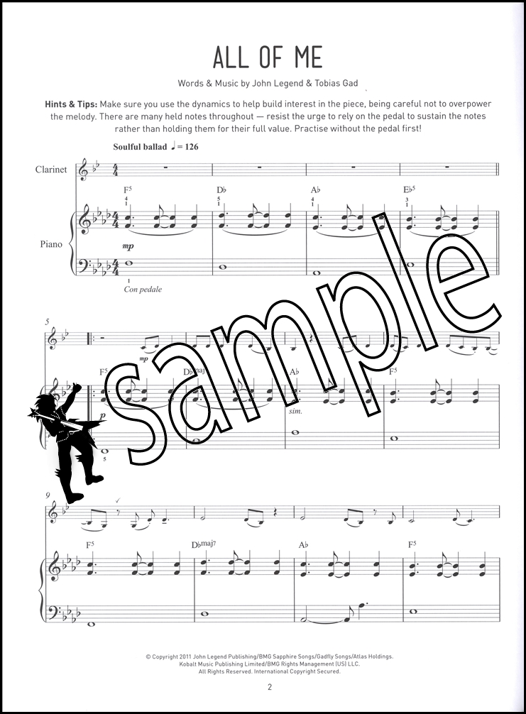 Pop Performance Pieces for Clarinet & Piano Sheet Music Book ...
