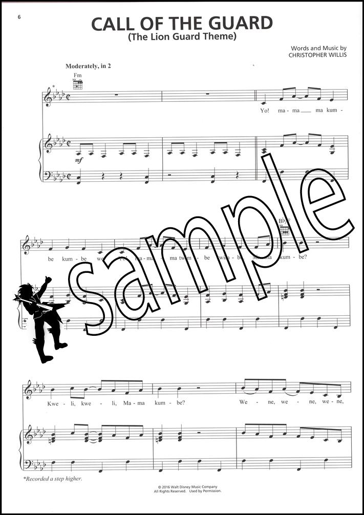 Piano lion king piano sheet music : The Lion Guard Piano Vocal Guitar Sheet Music Book PVG King's ...