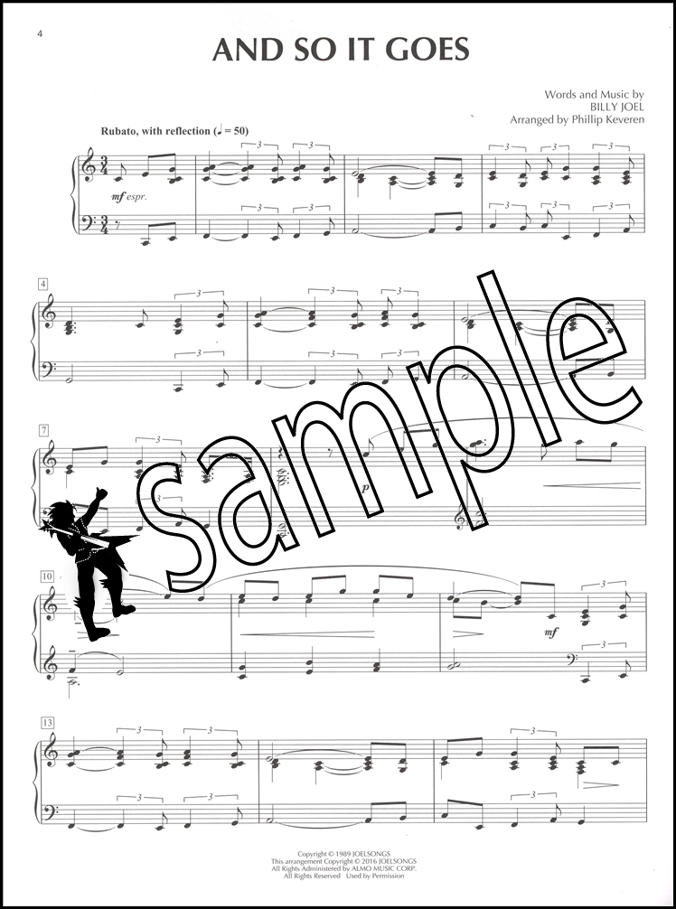 All Music Chords sheet music and so it goes : Billy Joel for Classical Piano | Hamcor