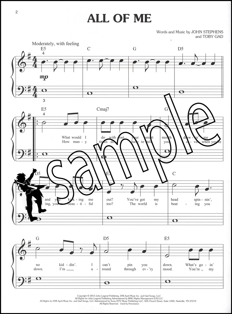 Piano piano note sheet : Today's Pop Hits Big Note Piano | Hamcor