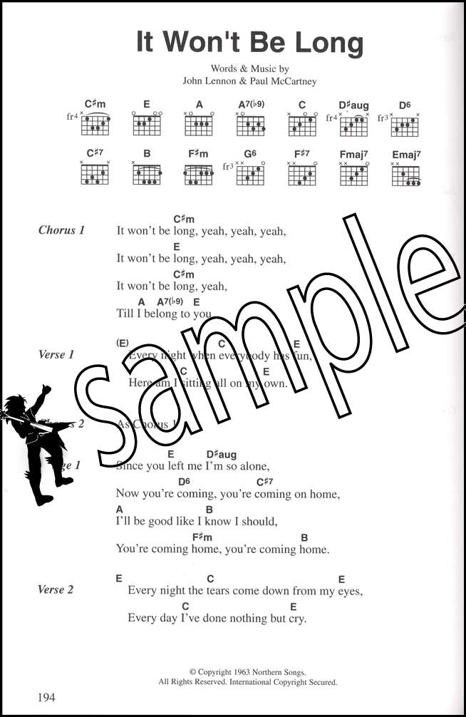 The Beatles Complete Guitar Chord Songbook Penny Lane Michelle Back