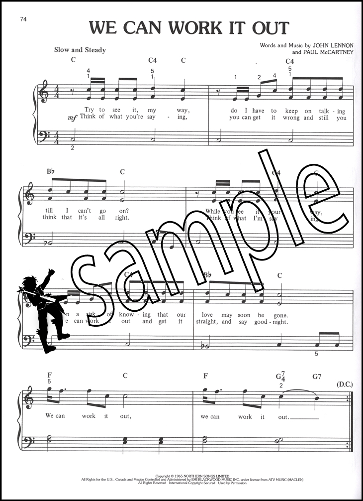 Piano all of me easy piano sheet music : The Beatles Greatest Hits Easy Piano Sheet Music Book Hey Jude Day ...
