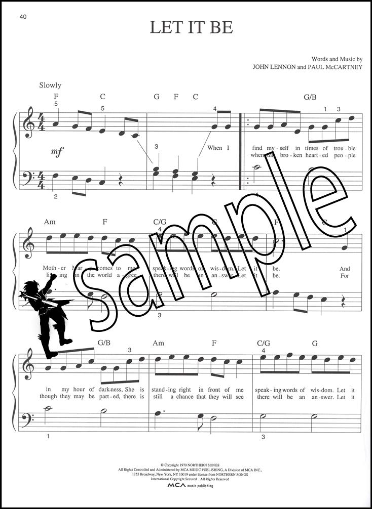 Piano piano note sheet : The Beatles Best Big Note Piano Sheet Music Book Day Tripper Hey ...