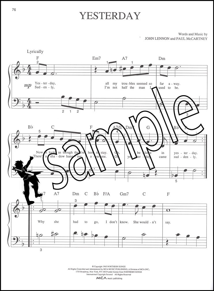 The Beatles Best Big Note Piano Sheet Music Book Day Tripper Hey