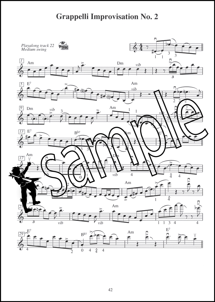 Stephane Grappelli Gypsy Jazz Violin Sheet Music Book with Audio ...