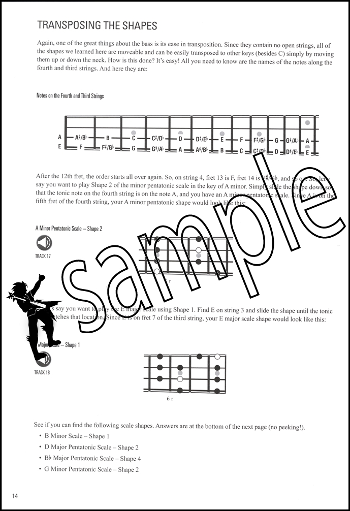 Bassist\'s Guide to Scales over Chords TAB Music Book with Audio Bass ...