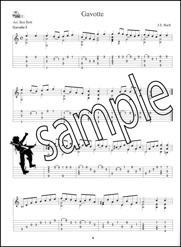 Guitar bach cello suite 1 guitar sheet music : J S Bach for Acoustic Guitar Book/Audio | Hamcor