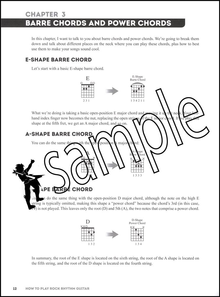 How To Play Rock Rhythm Guitar Book/Video | Hamcor