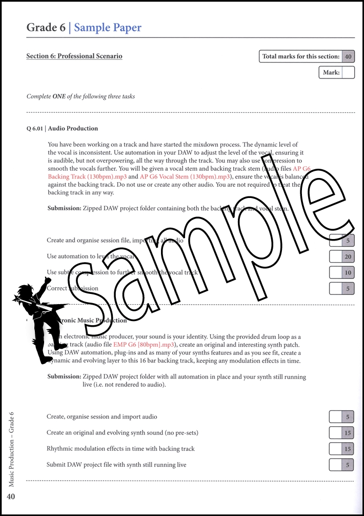 logic music exam Add the festival spirit into your productions with a selection of free samples provided to logic  offer you free samples courtesy of original music from their.