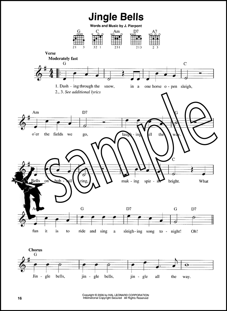 Christmas Carols For Easy Guitar Sheet Music Book Chord Melody