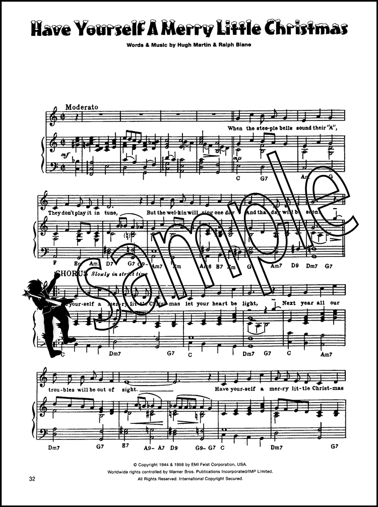 With Christmas in Mind Piano Vocal Guitar PVG Happy Xmas Last Sleigh ...