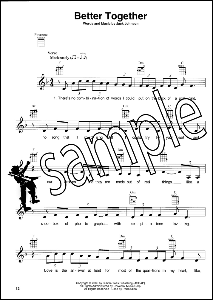 Wedding Songs For Ukulele Chord Melody Songbook Sing Strum