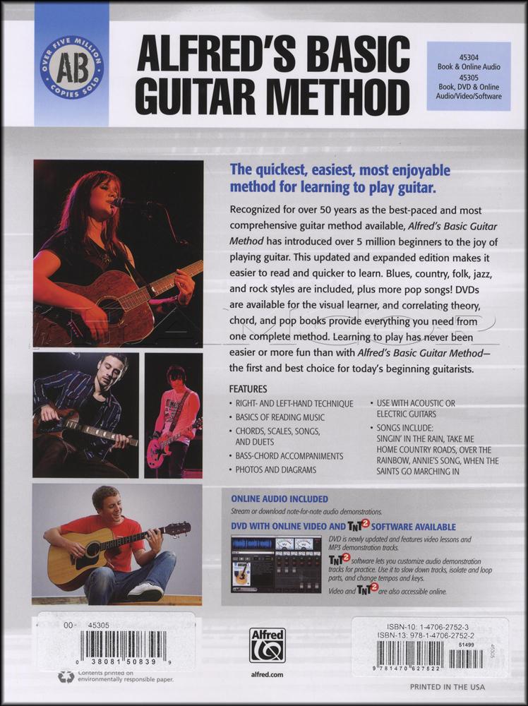 Audioalfreds Basic Guitar Method 1 Bookdvdaudio Hamcor