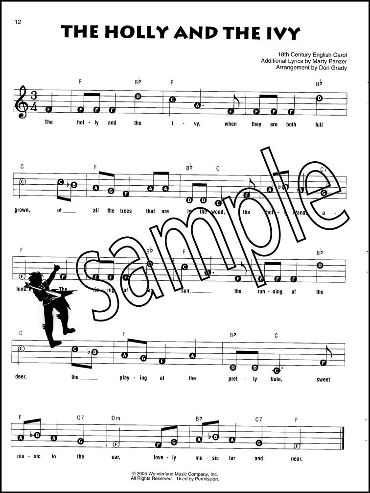Disney Christmas Carols Recorder Fun Sheet Music Book Jingle Bells ...