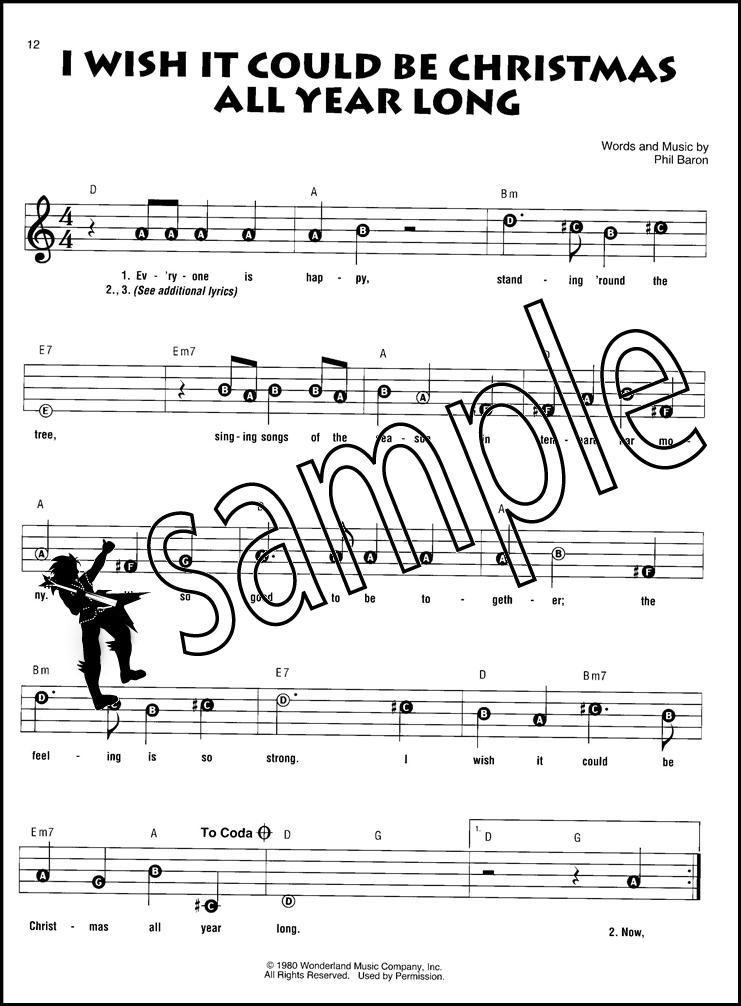 Disney Christmas Songs Recorder Fun Sheet Music Book Away In A ...