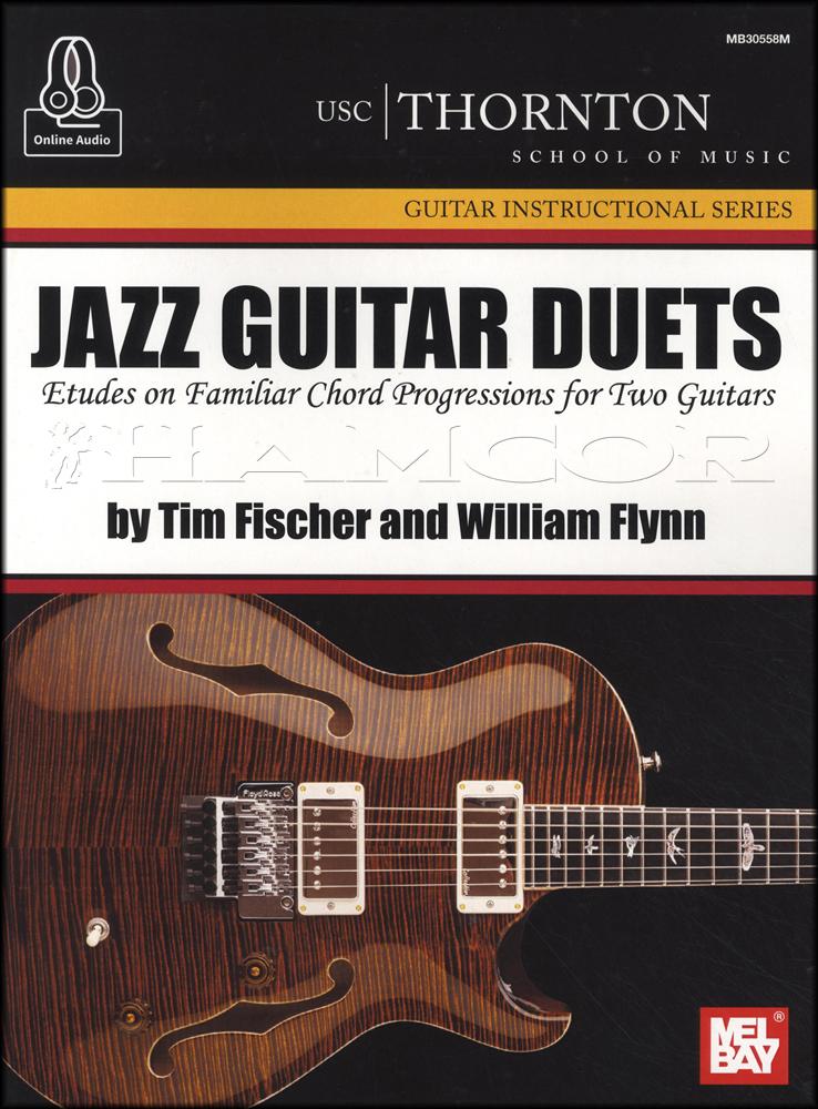Jazz Guitar Duets Sheet Music Book Audio Etudes On Familiar Chord