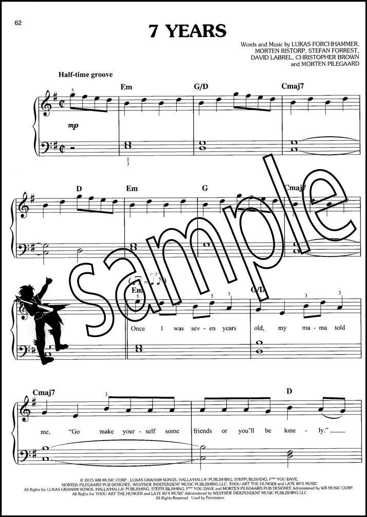 Piano easy piano sheet : Top Hits of 2016 Easy Piano | Hamcor