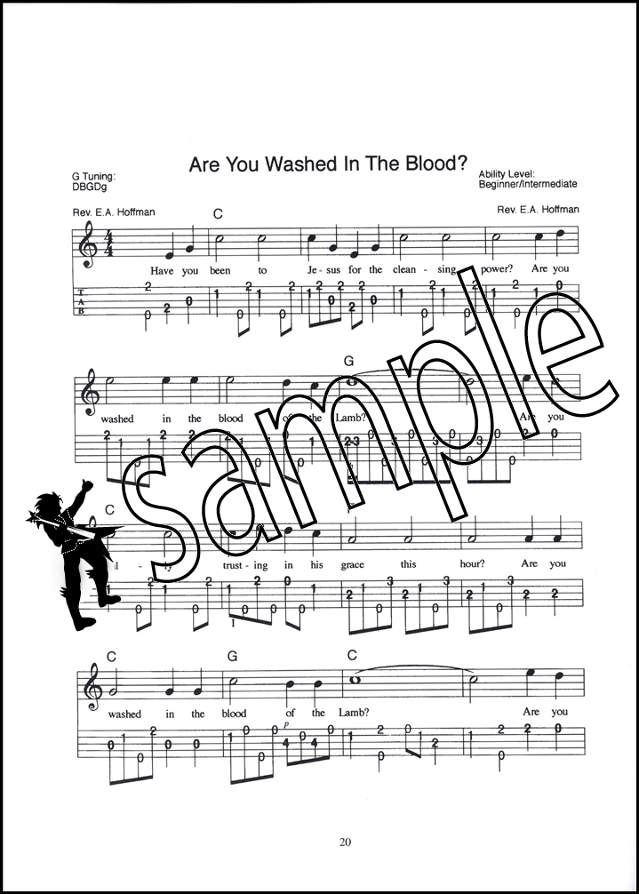 Old-Time Gospel Banjo Solos TAB Music Book with Audio 5-String 31 ...