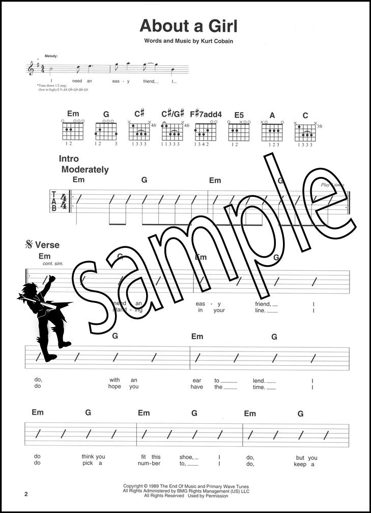 Acoustic Hits Easy Rhythm Guitar Chord Songbook & Audio Nirvana ...