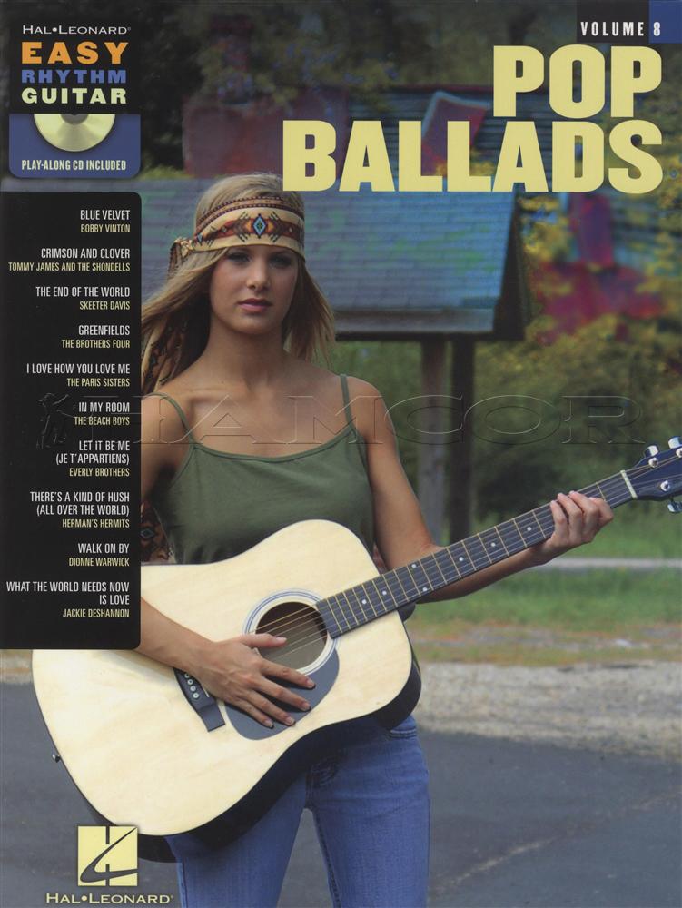 Pop Ballads Easy Rhythm Guitar Chord Songbook With Cd Beach Boys