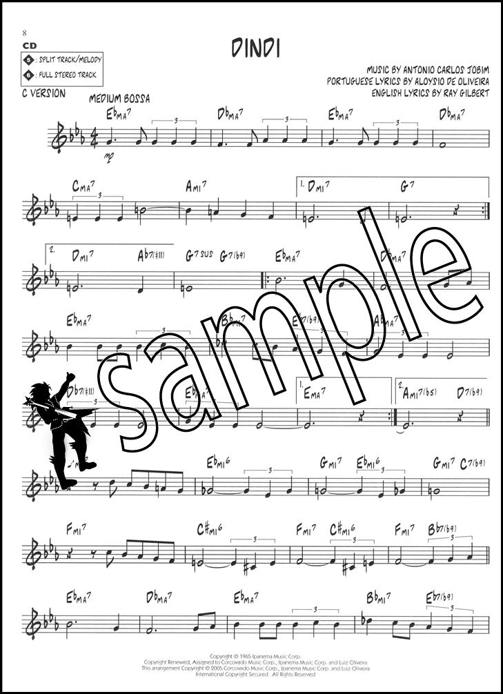 Lyric ipanema lyrics : Bossa Nova Jazz Play-Along Sheet Music Book with CD Bb Eb & C ...