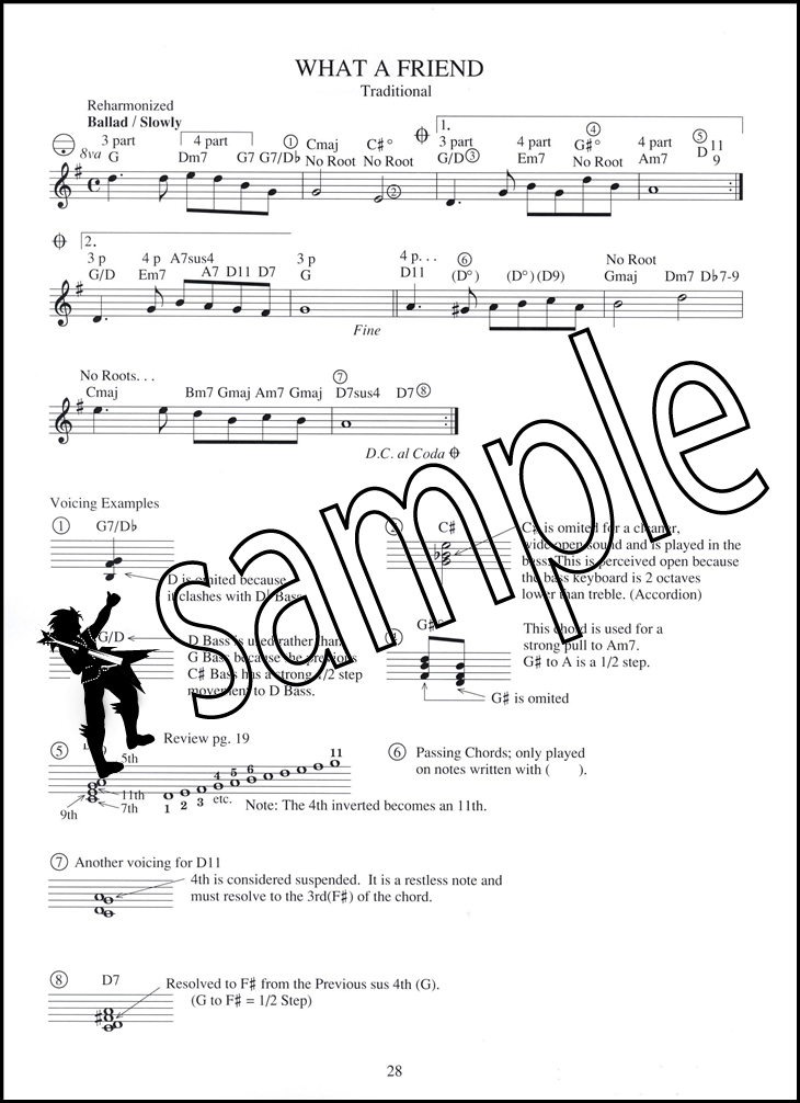 Chord Melody Method for Accordion Book/Audio | Hamcor