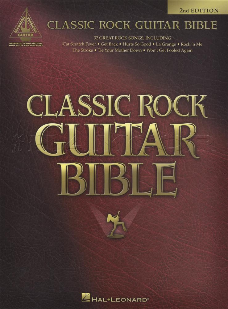 Classic Rock Guitar Bible 2nd Edition Tab Music Book Kiss Styx Zz
