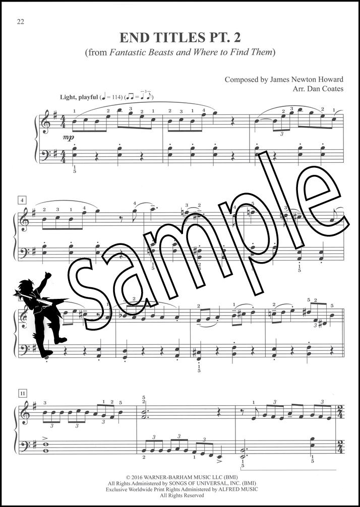 Piano easy piano sheet : Fantastic Beasts & Where to Find Them Easy Piano | Hamcor