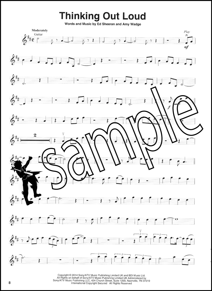 Pop Covers Violin Play-Along Sheet Music Book with Audio Train ...
