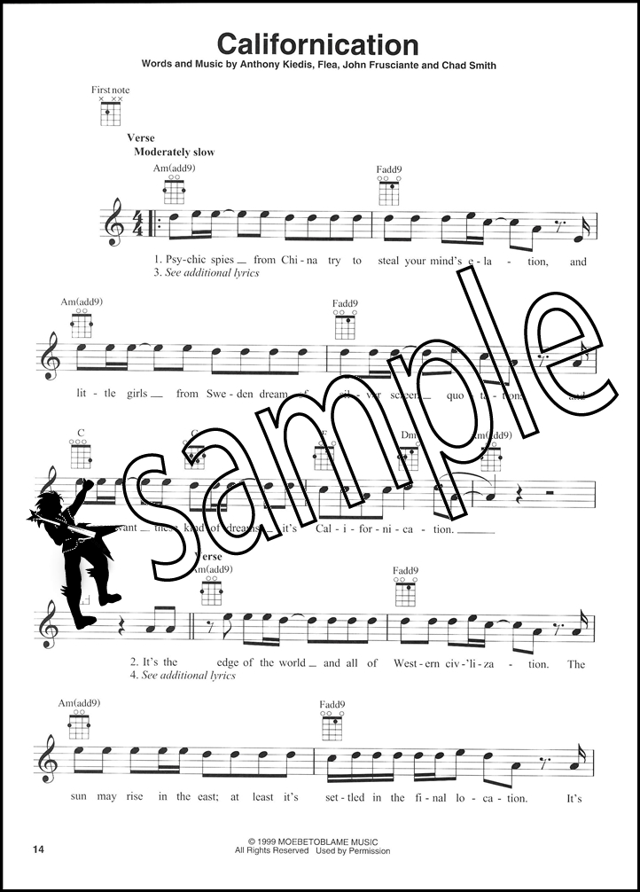 Red Hot Chili Peppers For Ukulele Chord Melody Songbook