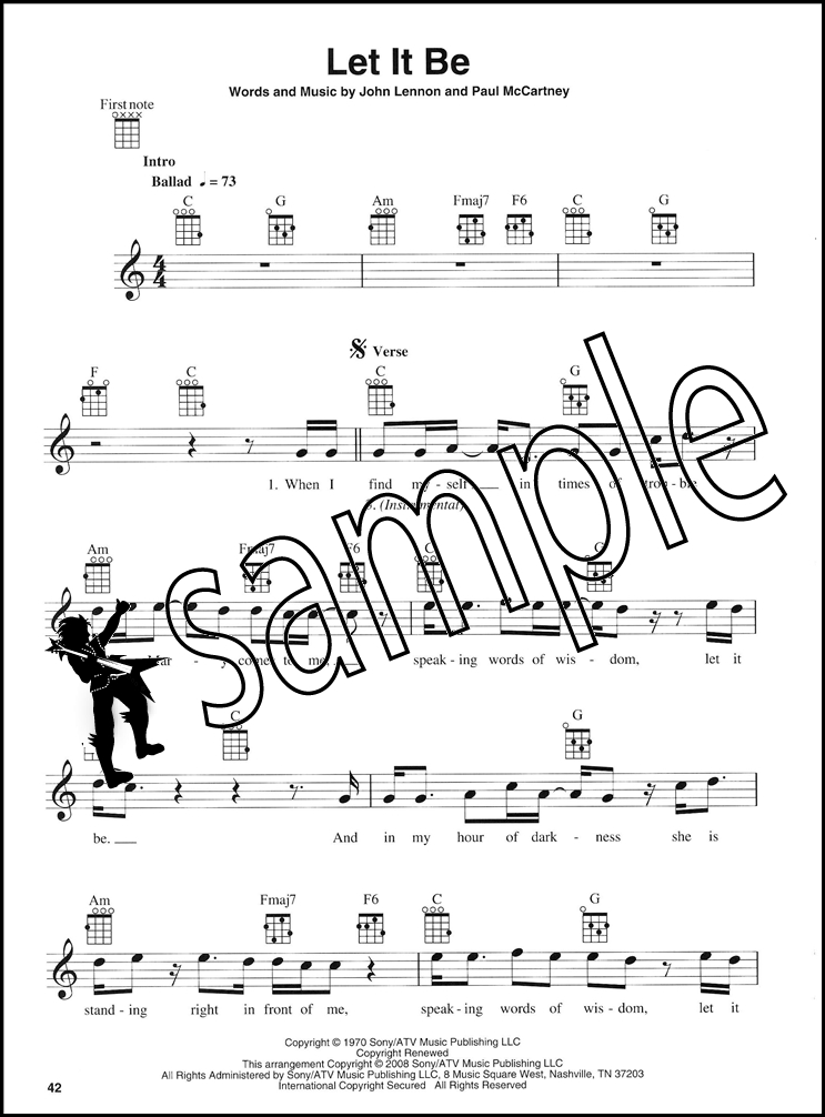 The Beatles For Ukulele Chord Melody Songbook Michelle Hey Jude