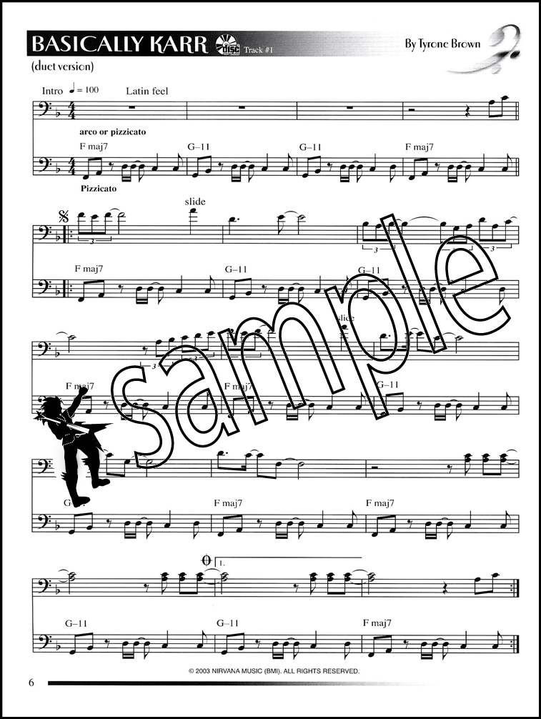 All Music Chords bass sheet music : Compositions for Bass Sheet Music Book with Audio Double Bass ...