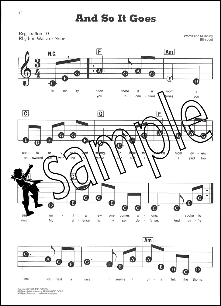 All Music Chords sheet music and so it goes : 50 Great Songs E-Z Play Today Book/Audio | Hamcor