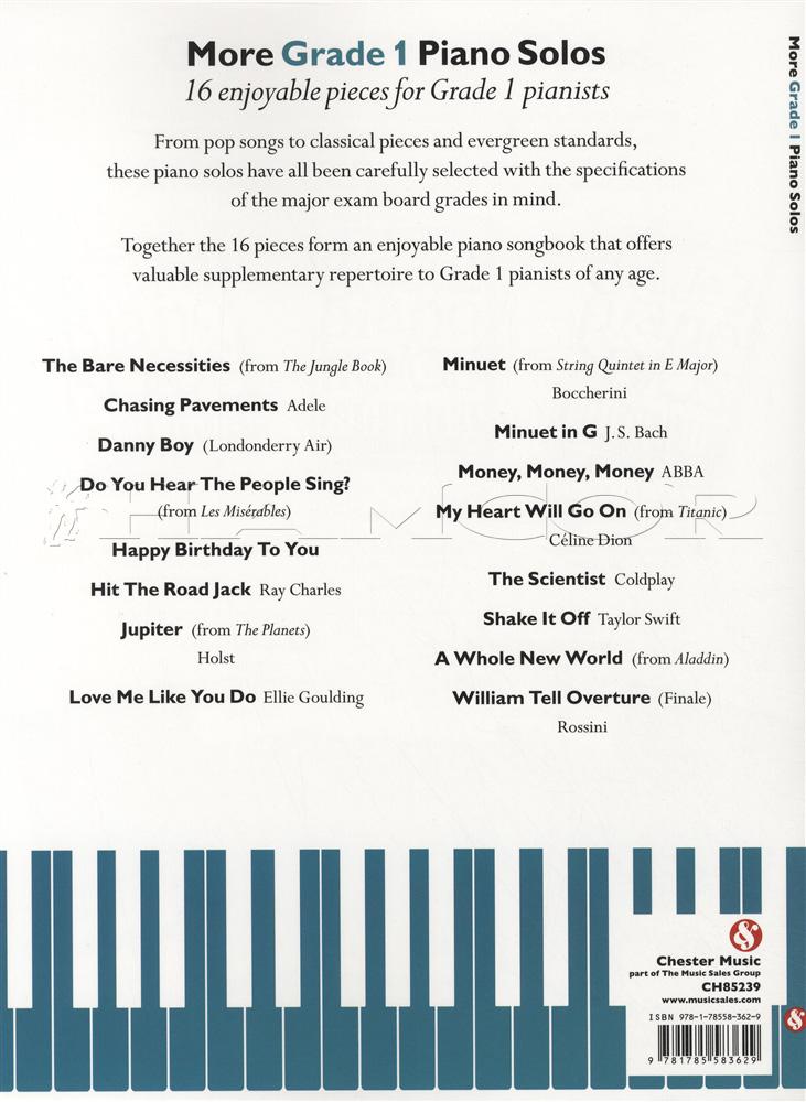 More Grade 1 Piano Solos | Hamcor