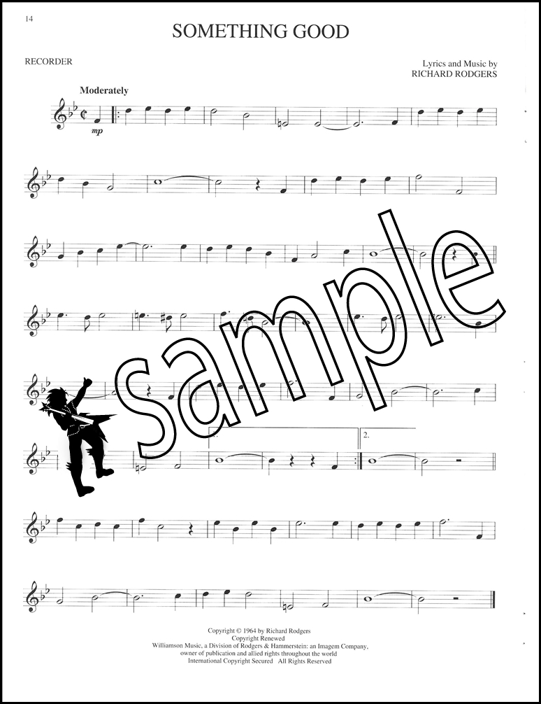 The Sound of Music Recorder Songbook Sheet Music Book Rodgers ...
