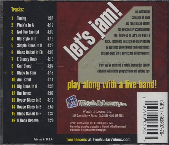 let s jam more blues rock tracks cd hamcor