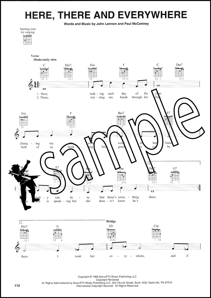 The Beatles Complete Easy Guitar Chord Melody Songbook Ticket To
