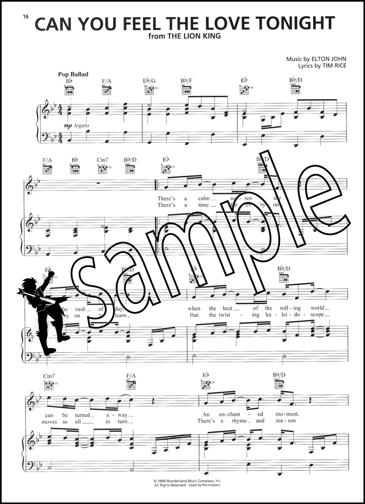All Music Chords can you feel the love tonight sheet music : Contemporary Disney 50 Favorite Songs PVG | Hamcor