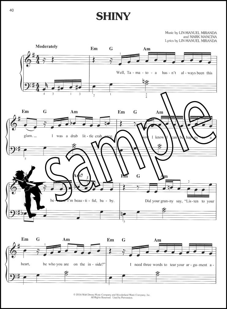 Piano easy piano sheet : Disney Moana Easy Piano Sheet Music Book Soundtrack I Am Moana ...
