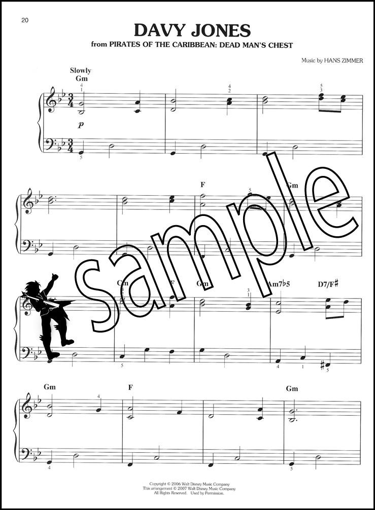 Estremamente Pirates of the Caribbean Easy Piano Solo Collection | Hamcor MP67