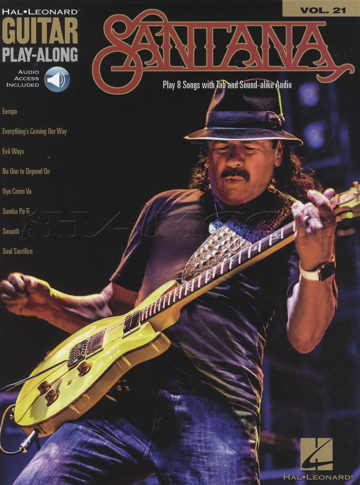 Santana Guitar Play-Along Book/Audio | Hamcor