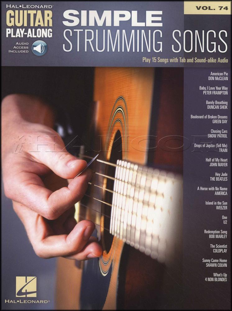 Simple Strumming Songs Guitar Play Along Bookaudio Hamcor