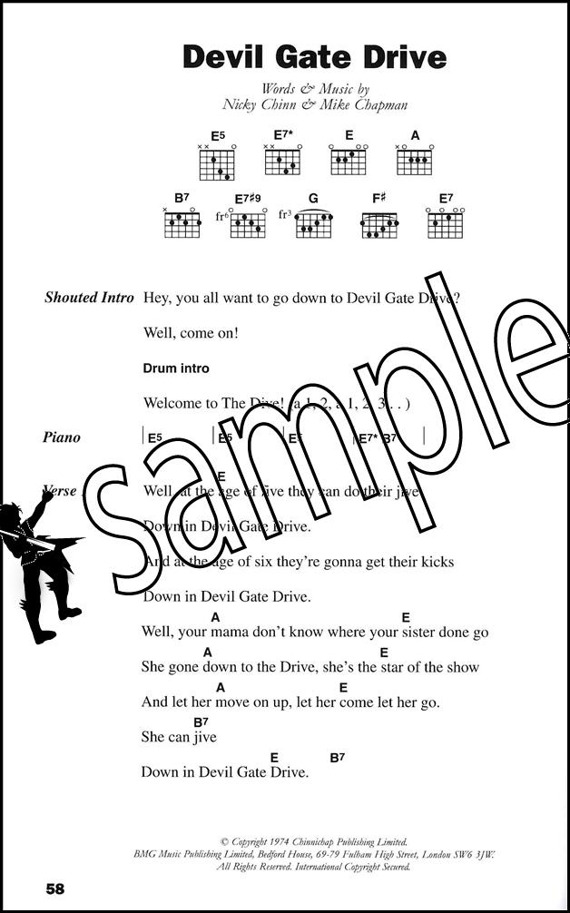 The Big Guitar Chord Songbook Classic Rock Metallica T Rex Queen Ac