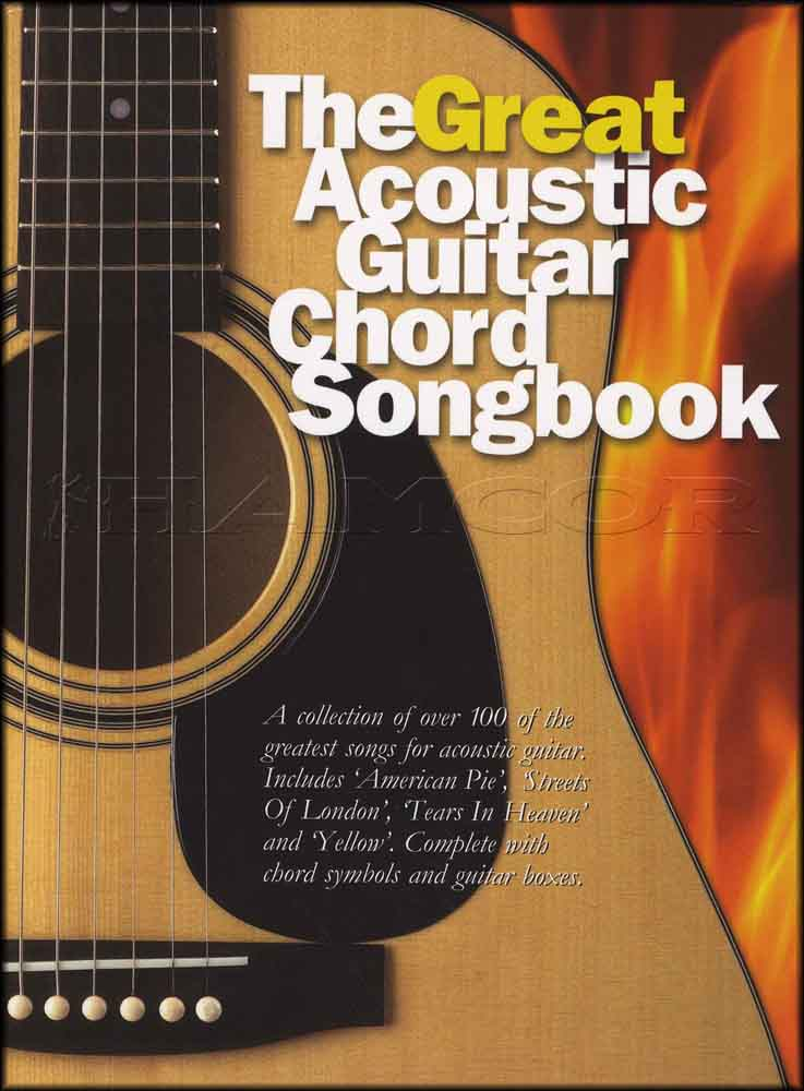 The Great Acoustic Guitar Chord Songbook Oasis Coldplay Sting