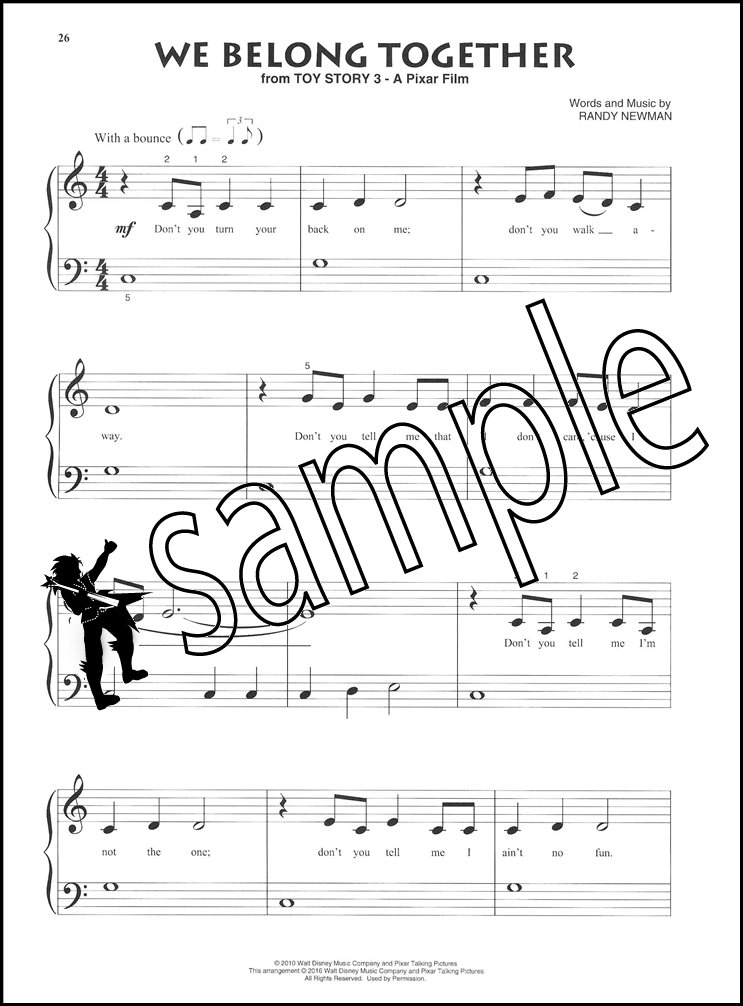 Piano beginning piano sheet music : Contemporary Disney Beginning Piano Solo Sheet Music Book Lava ...