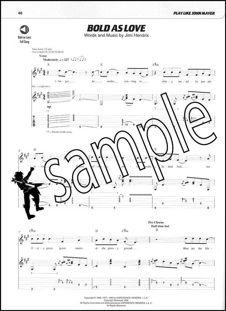 Play Like John Mayer Book/Audio   Hamcor