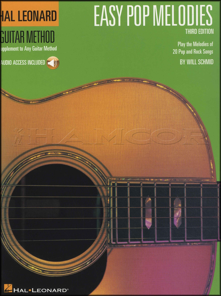 Easy Pop Melodies Guitar Method Book/Audio