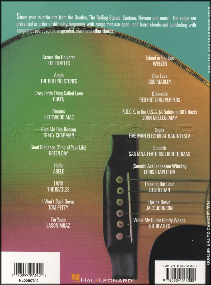 Even More Easy Pop Rhythms Guitar Method Chord Melody Songbook Adele ...