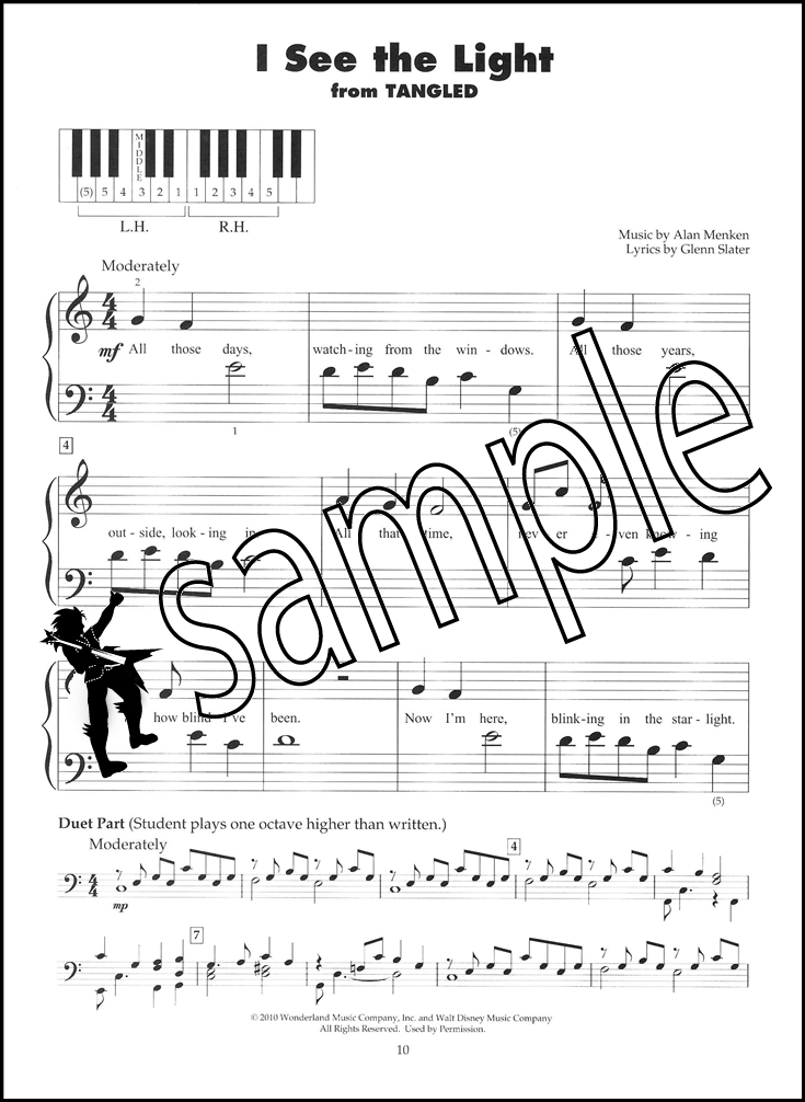 Piano i see the light piano sheet music : Disney Today 5-Finger Piano | Hamcor