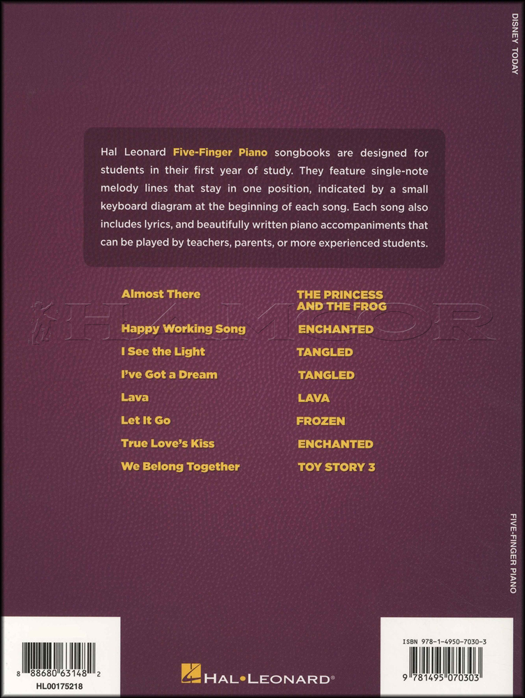 Lyric frozen songs lyrics : Disney Today 5 Finger Piano Sheet Music Book Lava Frozen Tangled ...